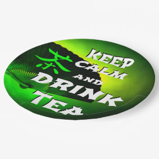 keep calm and drink tea paper plate