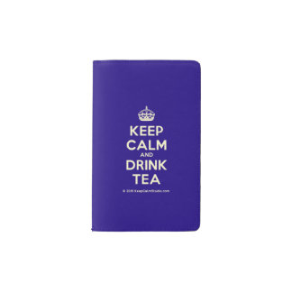 Keep Calm and Drink Tea Pocket Moleskine Notebook