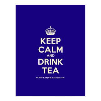 Keep Calm and Drink Tea Postcard