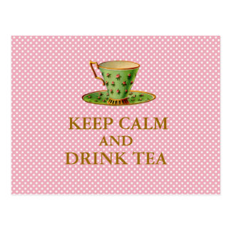 Keep Calm and Drink Tea Postcards