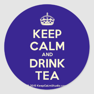 Keep Calm and Drink Tea Round Sticker
