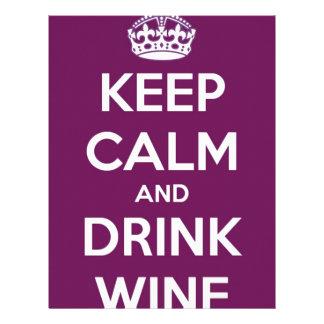 Keep Calm and Drink Wine Letterhead Design