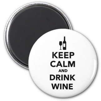 Keep calm and drink Wine Magnet