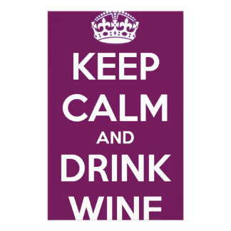 Keep Calm and Drink Wine Stationery Design