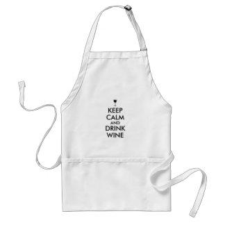 Keep Calm and Drink Wine Wine Lover Custom Standard Apron