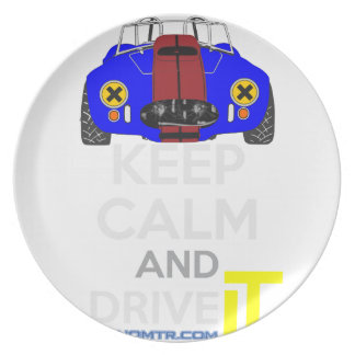 Keep Calm and Drive IT - cod. 1965Cobra427 Party Plate