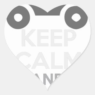 Keep Calm and Drive IT - cod:LDDefender Heart Sticker