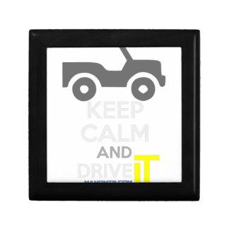Keep Calm and Drive IT - cod:LDDefender Keepsake Box