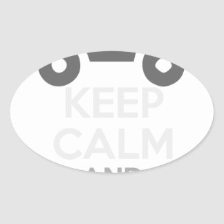 Keep Calm and Drive IT - cod:LDDefender Oval Sticker