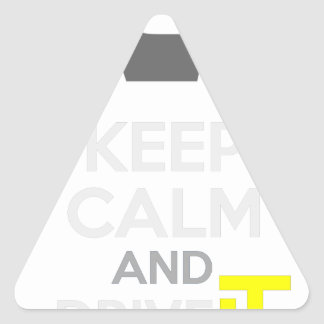 Keep Calm and Drive IT - cod:LDDefender Triangle Sticker