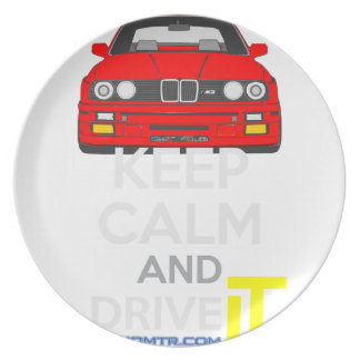 Keep Calm and Drive IT - cod. M3E30 Dinner Plates