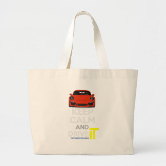 Keep Calm and Drive IT - codPRSC Large Tote Bag