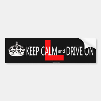 Keep Calm and Drive on L plate Bumper Sticker