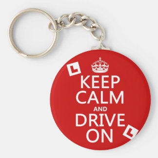 Keep Calm and Drive On (learner) Keychain