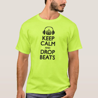 'Keep Calm and Drop Beats' T-Shirt - Lime