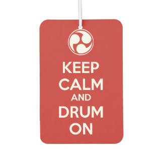 Keep Calm and Drum On Air Freshener