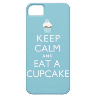 Keep Calm and Eat a Cupcake {blue} iPhone 5 Case
