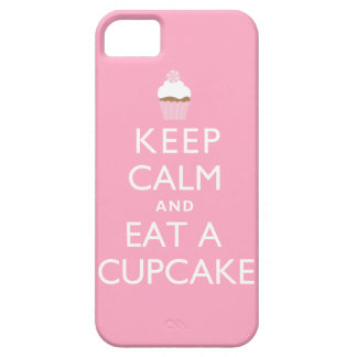Keep Calm and Eat a Cupcake pink iPhone 5 Cases