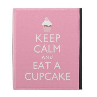 Keep Calm and Eat a Cupcake {pink} iPad Folio Case