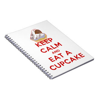 Keep Calm and Eat a Cupcake Spiral Notebooks