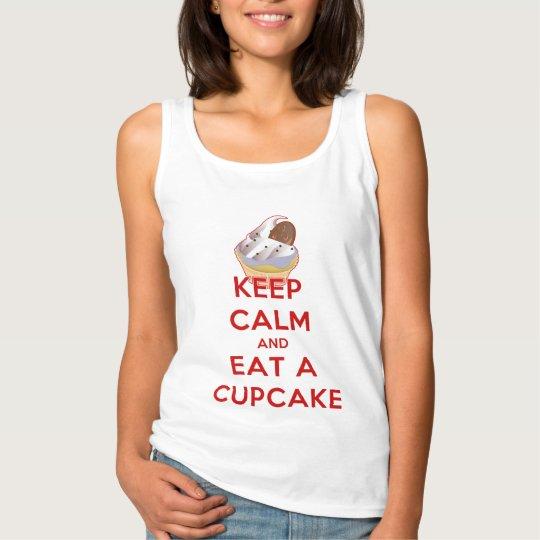 Keep Calm and Eat a Cupcake Tank Top