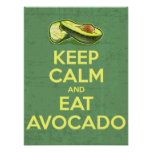 Keep Calm And Eat Avocado Poster