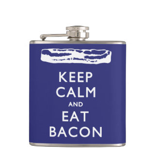 KEEP CALM AND EAT BACON FLASKS
