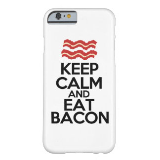 keep calm and eat bacon funny case barely there iPhone 6 case