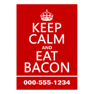 Keep Calm and Eat Bacon Large Business Card