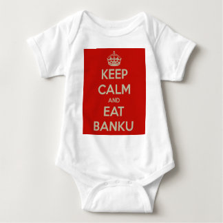 keep calm and eat banku baby bodysuit