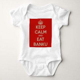 keep calm and eat banku baby bodysuit