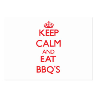 Keep calm and eat Bbq'S Business Cards
