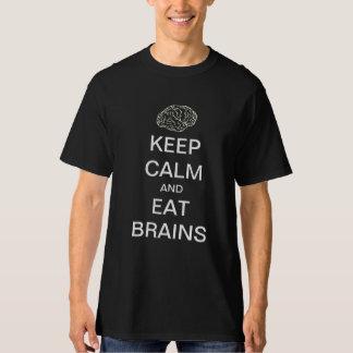Keep calm and eat brains zombie shirt