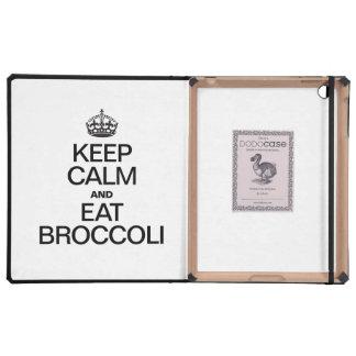 KEEP CALM AND EAT BROCCOLI iPad CASE