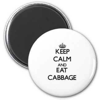 Keep calm and eat Cabbage Magnet