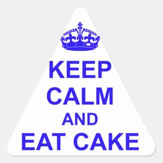 Keep Calm and Eat Cake Triangle Sticker