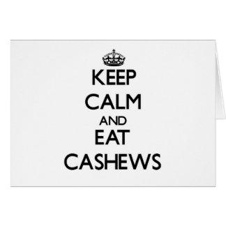 Keep calm and eat Cashews Cards