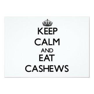 Keep calm and eat Cashews Custom Invitations