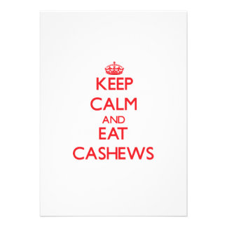 Keep calm and eat Cashews Personalized Invitation