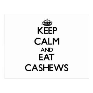 Keep calm and eat Cashews Postcards