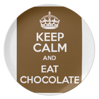 Keep Calm and Eat Chocolate Party Plates