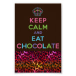 Keep calm and eat chocolate posters