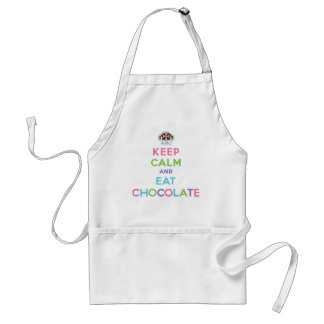 Keep Calm and Eat Chocolate Standard Apron