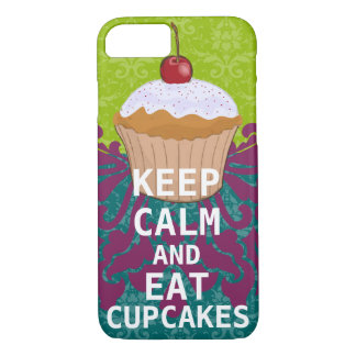 KEEP CALM AND Eat Cupcakes-change aqua any color iPhone 7 Case