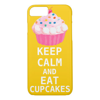 KEEP CALM AND Eat Cupcakes iPhone 7 Case