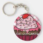 Keep calm and eat cupcakes llavero