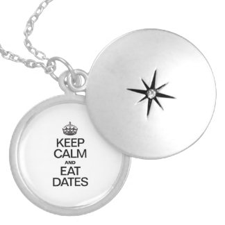 KEEP CALM AND EAT DATES PENDANTS