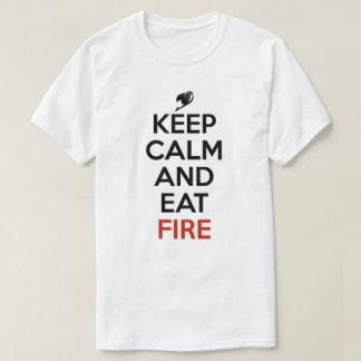 Keep Calm And Eat Fire Anime Manga Shirt