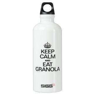 KEEP CALM AND EAT GRANOLA SIGG TRAVELER 0.6L WATER BOTTLE