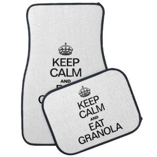 KEEP CALM AND EAT GRANOLA FLOOR MAT
